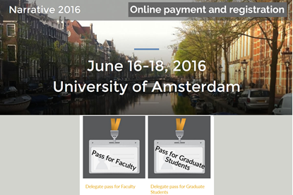 Online payment and registration for Narrative 2016 Conference